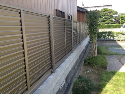 松阪市 K様邸 フェンス設置工事