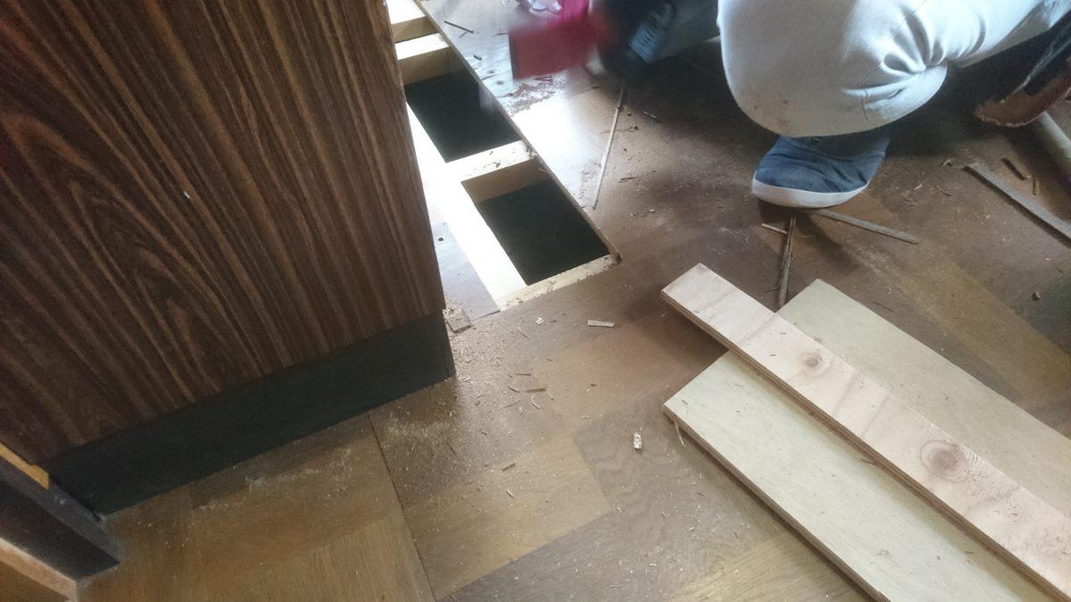 下地が大事!壁合板張り工事