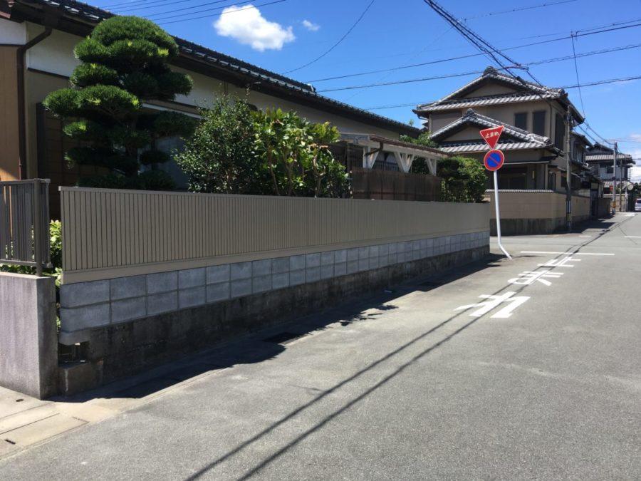 松阪市 S様邸 フェンス設置工事