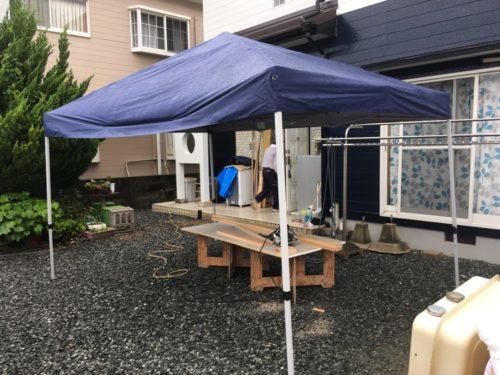 雨の日の工事